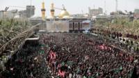 Shia Muslim pilgrims mark Ashura in Karbala, Iraq