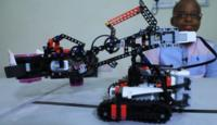 A robot grabber coded by a Nigerian boy