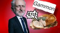 Jeremy Corbyn and gammon graphic