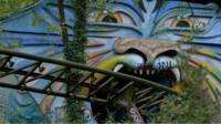 An abandoned fairground ride in Spreepark, Germany