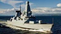 Royal Navy's new Type 45 destroyer, HMS Daring,