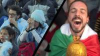 Реакции болельщиков Аргентины и Мексики на успехи и поражения своих команд