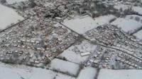 An aerial view of Shawbury