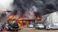 Fire in Medina Village
