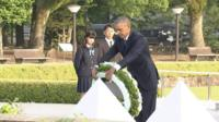 President Obama lays a wreath