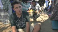 Teenager in migrant camp talks to BBC