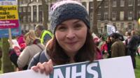 Nurse at NHS demo