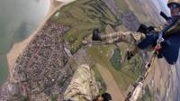 Tiger parachute display team