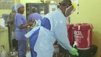 Medical staff at Redemption Hospital