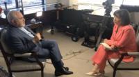 مصاحبه ظریف با خانم امانپور