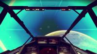 Real-game footage shows the player's view of space from the explorer's cockpit.