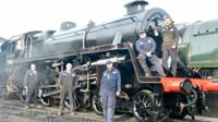Will Marsh and his team, who spent two years restoring the steam engine