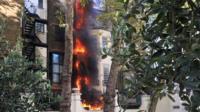 Fire near Saudi embassy