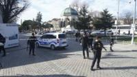 Police in Istanbul following blast