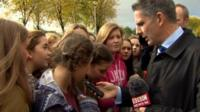 BBC reporter Mark Simpson told excited fans queuing outside the venue that the concerts will be going ahead