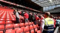 Manchester United evacuation