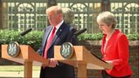 Trump and May.