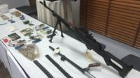 Weapons recovered in anti-terror operations in Manama