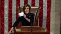 Nancy Pelosi announces impeachment passes