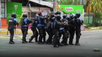 Riot police in Nicaragua
