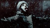 Banksy season's greetings child