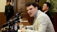 Otto Warmbier said he was promised a used car if he brought back the sign