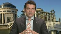 Macedonian Foreign Minister Nikola Poposki