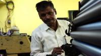 Suresh Nandmeher in his workshop.