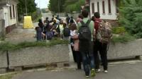 Migrants in Bregana