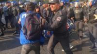 Задержания протестующих в Баку