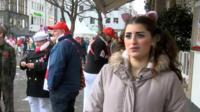 A woman at Cologne carnival