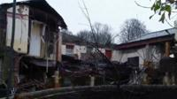 The damaged pub