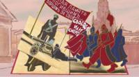 День Октябрьской революции в анимации