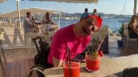 Gerald by the beach in Ibiza