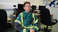 Rebecca Owen from Wales Ambulance's Hazardous Area Response team