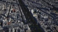 aerial view of Paris