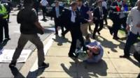 "It began with a White House handshake but ended up with the ""brutal"" beating of protesters. Why?"
