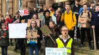 Students protest in Ipswich