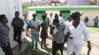 Mourners in Haiti