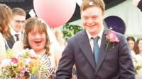 Polly Gibson retells the story of her wedding day to husband Joe Minogue