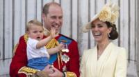 Duke and Duchess of Cambridge with Prince Louis