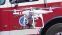 A drone equipped with a thermal imaging device