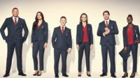 Team GB athletes in their new suits