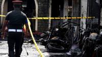 Не менее восьми взрывов прогремели на Шри-Ланке