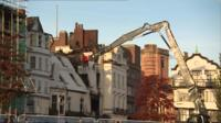 Demolition of Royal Clarence Hotel