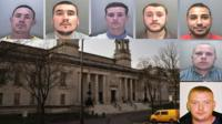 Men jailed over Gaza protest disorder inset with Cardiff Crown Court