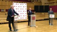 Carwyn Jones and Nigel Farage with Adrian Masters
