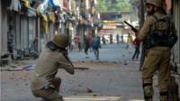 Security forces in Indian-administered Kashmir have been accused of using excessive force