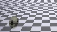 Computer modelling a soft robot
