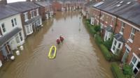 A Carlisle street underwater
